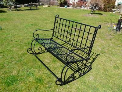 banco de ferro para jardim