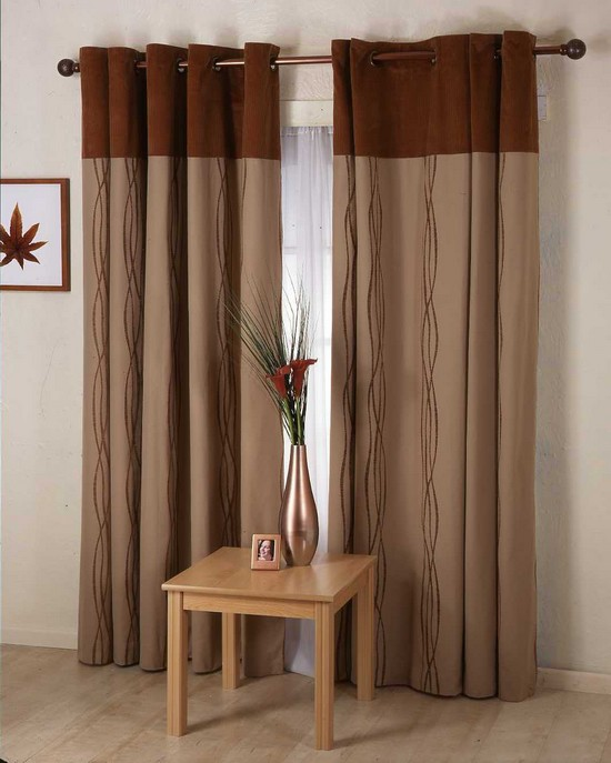 cortinas castanhas