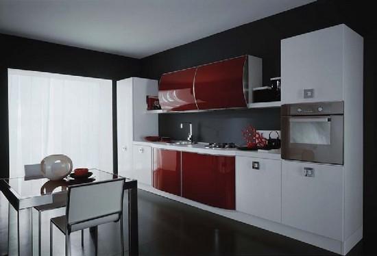 cozinha decorada com porcelanato