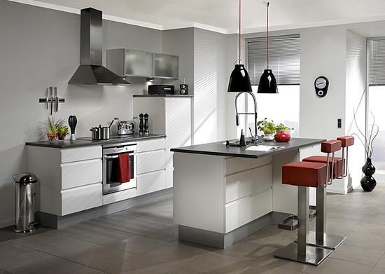 decoração de cozinhas brancas modernas