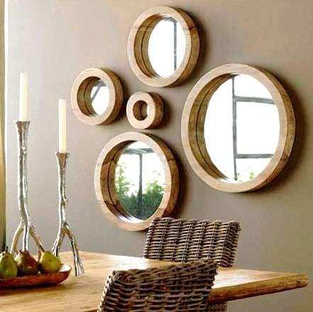 fotos de decoração com espelhos