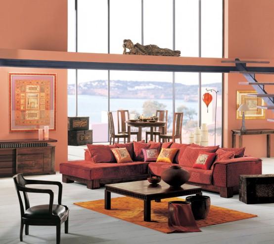 sala com acessórios decorativos