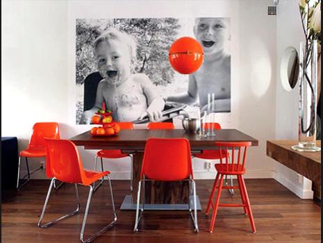 Fotos de decoração de paredes com fotos