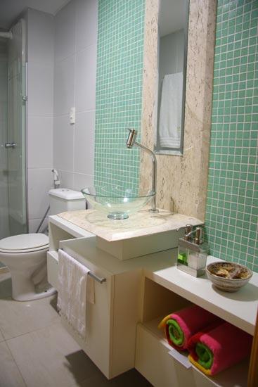 decoração de banheiros com pastilhas verdes