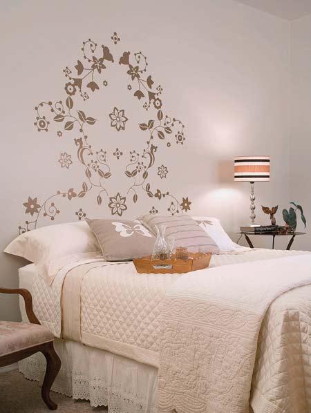 Artesanato Com Tecido De Juta ~ Fotos de quartos de casal decorados