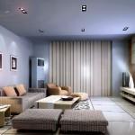 salas modernas azuis