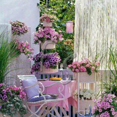 fotos de varandas com flores
