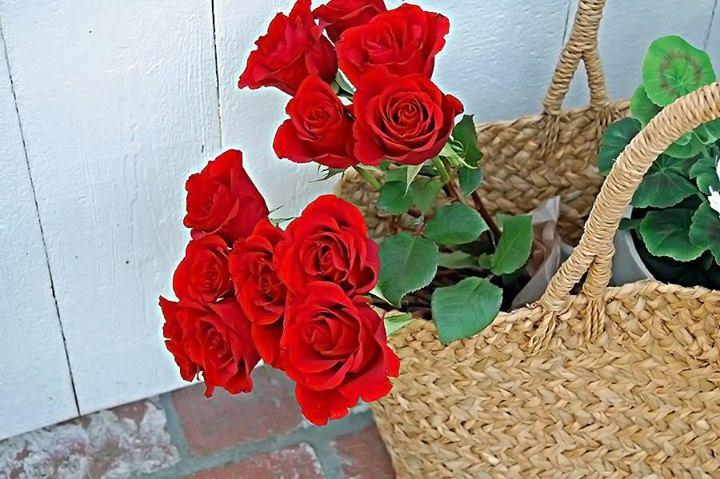 cesta com flores