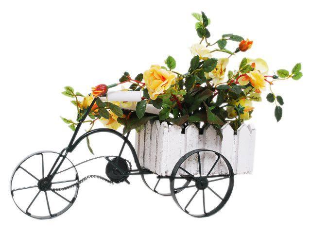 foto de carrinho com flores