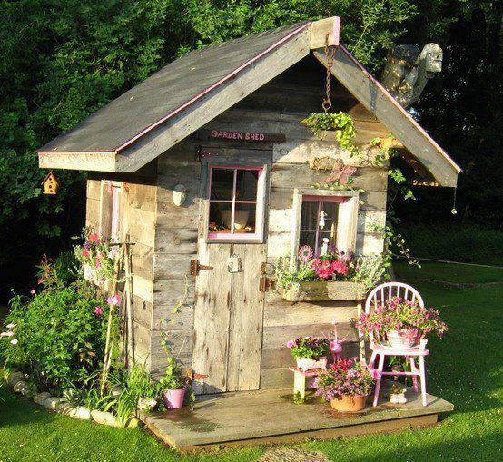 casinha com flores