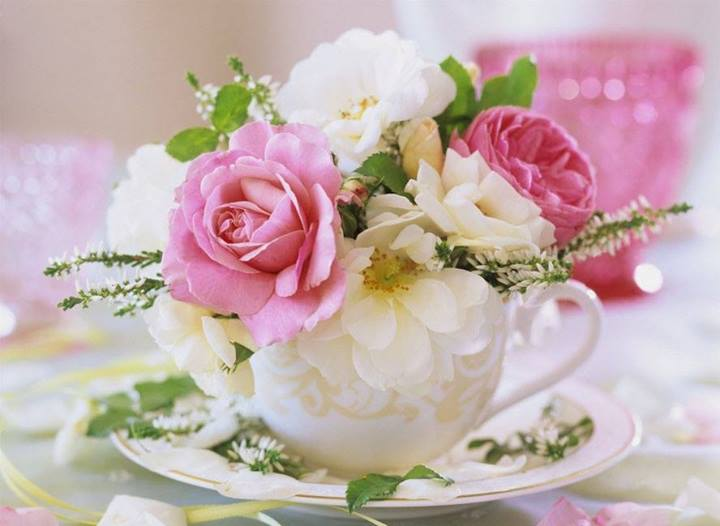 arranjo com flores bonitas
