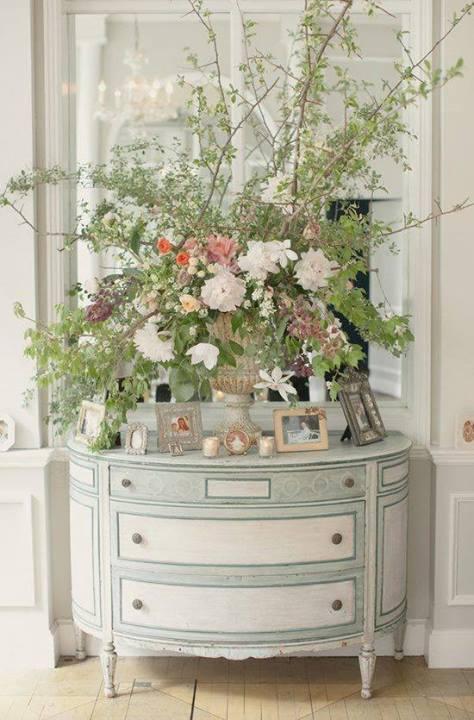 decoração provençal com flores