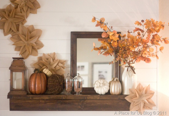 fotos de decoração de outono com flores