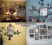 decoração criativa com fotos