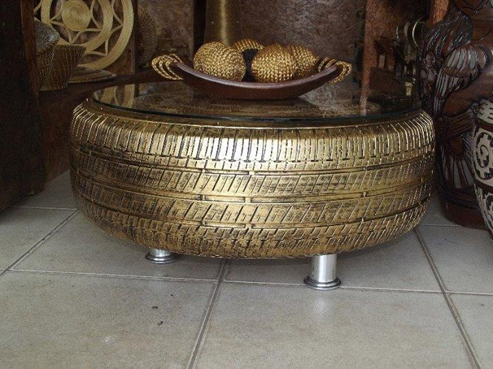 decoração criativa com pneus