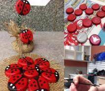 fotos de decoração com tampinhas pet