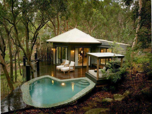 casas pequenas com piscina