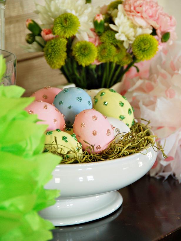 Decoração de Páscoa 2014 com ovos