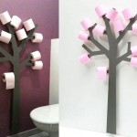 Decoração com rolos de papel