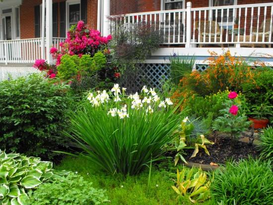 Entradas com jardins