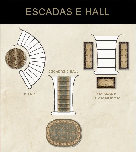 tapetes hall escadas