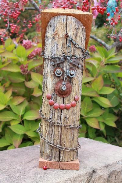 decoração de jardim com madeira