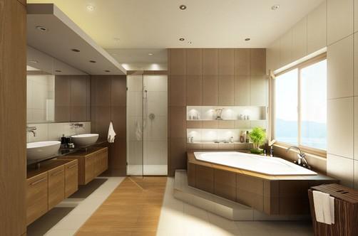 Banheiros de casal modernos -> Banheiro Pequeno Casal