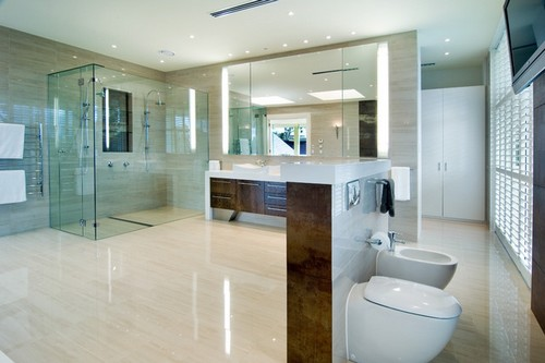 Banheiros de casal modernos -> Banheiro Moderno Casal