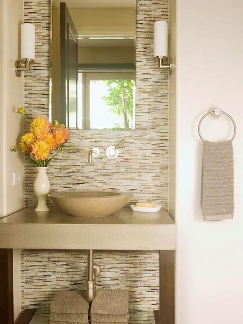 Fotos de decoração de banheiros modernos com pastilha