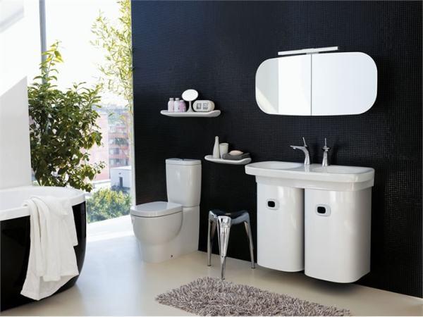 Fotos de decoração de banheiros modernos com zul e branco