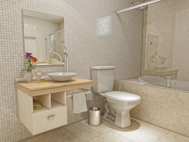 Fotos de decoração de banheiros simpl -> Banheiro Pequeno Mas Lindo