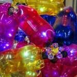 Decoração de Carnaval com garrafa pet