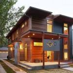 decoração de casas de madeira
