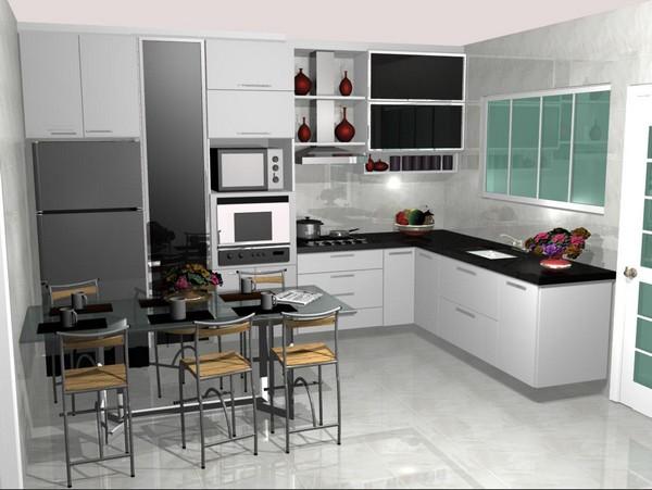 Cozinhas planejadas pequenas em L