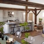 cozinhas com ilha plantas decorativas