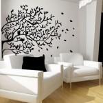 Decoração com adesivos de parede