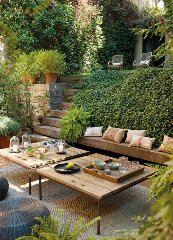 imagens de jardim externo : imagens de jardim externo:Beautiful Outdoor Living Space