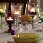 Decoração de mesa para o Reveillon