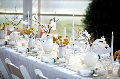 Decoração de mesa de festa