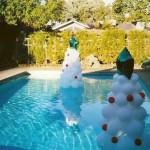 Decoração de piscina para Reveillon