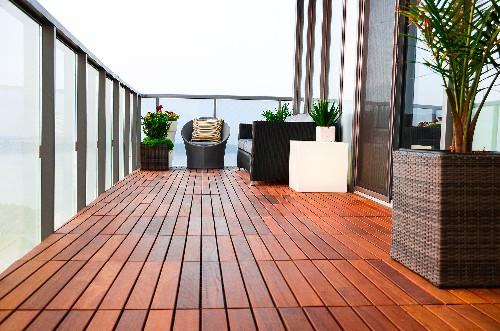 Decoração de pisos para varandas