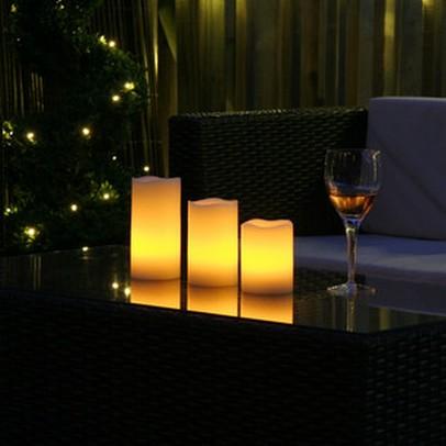 Fotos de decoração com velas de led