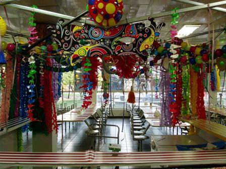 Decoração de Carnaval com balões