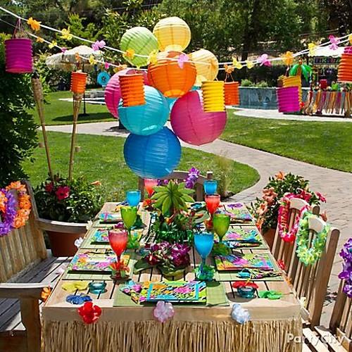 Decorações para festas havaianas