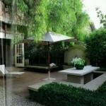 entradas de casas com jardim