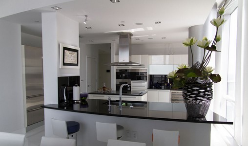 Fotos de cozinhas decoradas for Silver and black kitchen ideas