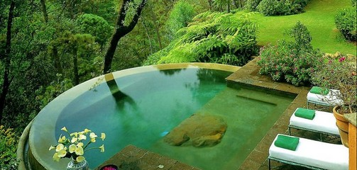 fotos de decoração de piscinas