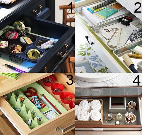 Como organizar gaveta