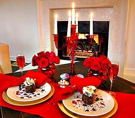 Decora o para jantar do dia dos namorados - Decoration table st valentin ...