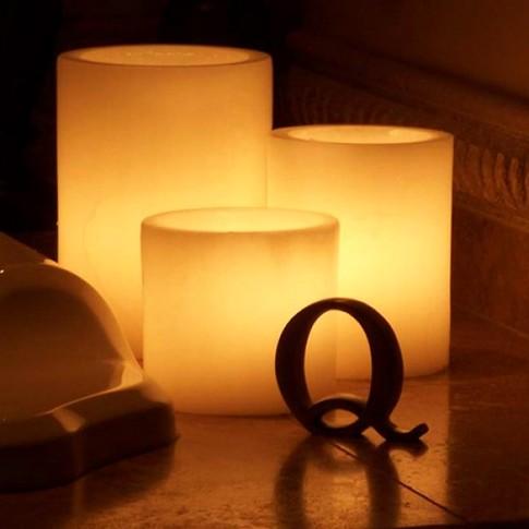 Fotos de decoração com velas led